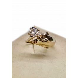 Single Dolphin Engagement Ring, Large Head.40pt Diamond