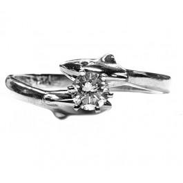 Diamond Dolphin Engagement Ring 20pt Round F VS Quality
