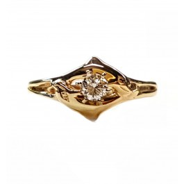 Double Dolphin Engagement Ring 1/3ct. Round Center