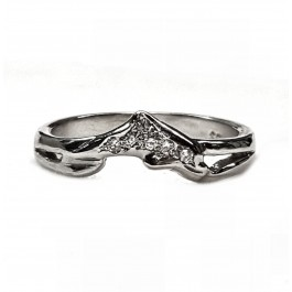Single Diamond Dolphin Wedding Ring in 14kt. Gold