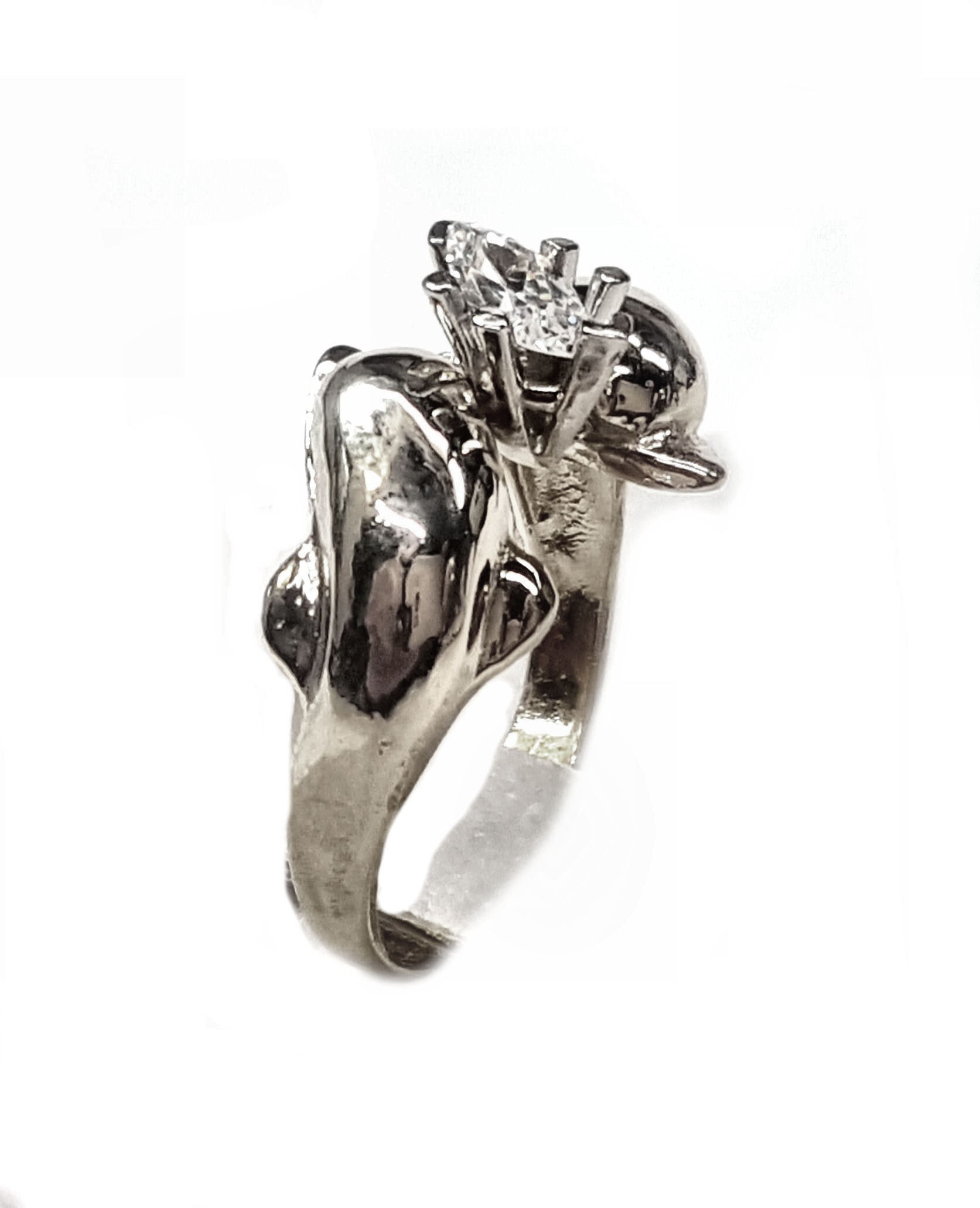 The Dolphin Bridal Jewelry Store Double Dolphin Engagement Ring w