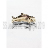 Single Dolphin Band, Wedding Band to Independence Day Ring