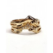 Double Row Dolphin Wedding  Band, in 14kt. Gold