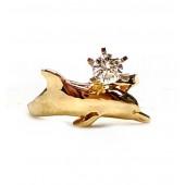 Large Single Dolphin Engagement Ring w/25pt.Diamond