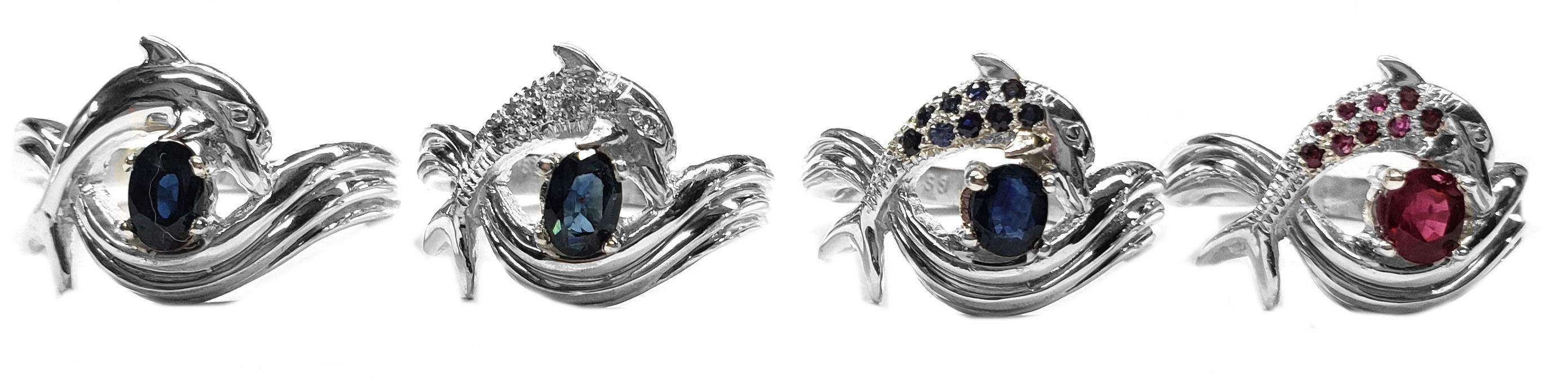 Dolphin Independence Day Style Engagement Rings